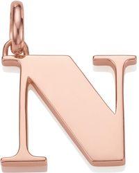 Monica Vinader - Rose Gold-plated Alphabet Pendant N - Lyst