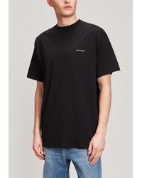Balenciaga Logo Print T-shirt - Black