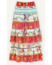 Hayley Menzies Enchanted Leopard Midi-skirt - Multicolour
