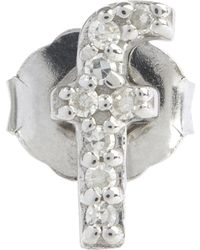KC Designs - Diamond F Single Stud Earring - Lyst