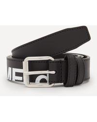 Comme des Garçons Logo Print Leather Belt - Multicolour