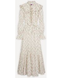 Philosophy Di Lorenzo Serafini Wildflowers Muslin Maxi-dress - White