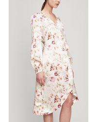 byTiMo Floral Satin Wrap-dress - Multicolor