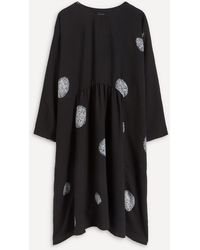 Eskandar Dot Pattern Midi-dress - Black