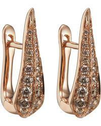 Annoushka - 18ct Rose Gold Brown Diamond Hoop Earrings - Lyst