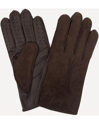 Dents Pambrey Sheepskin Touchscreen Leather Gloves - Brown