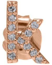KC Designs - Rose Gold Diamond K Single Stud Earring - Lyst