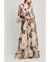 byTiMo Floral Ruffle-trim Maxi-dress - Multicolor