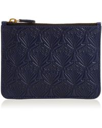 Liberty - Coin Pouch In Embossed Leather - Lyst