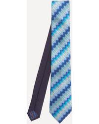 Missoni Tonal Wave Silk Tie - Blue