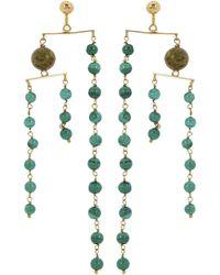 Paloma Wool Vino Drop Earrings - Green