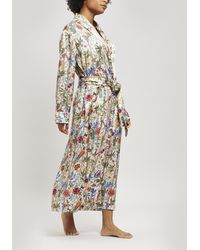 Liberty - Bamboo Garden Silk Charmeuse Long Robe - Lyst