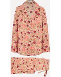 Liberty Carla And Dana Tana Lawn' Cotton Pyjama Set - Multicolour