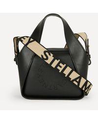 Stella McCartney Mini Stella Logo Faux Leather Cross-body Bag - Black
