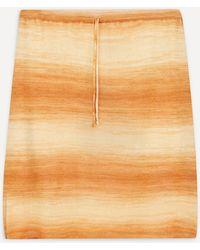 Paloma Wool Javier Striped Mini-skirt - Orange