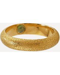 Alex Monroe - X Raven Smith Gold-plated Hans Hidden Green Tourmaline Ring - Lyst