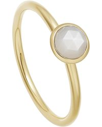 Astley Clarke Gold Vermeil Mini Stilla Moonstone Ring - Metallic