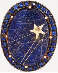 Andrea Fohrman Gold Galaxy Lapis Lazuli Quartz Ring - Multicolour