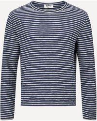 YMC X Stripe Jersey Sweatshirt - Blue