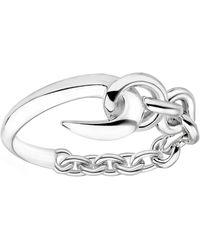 Shaun Leane Silver Hook Chain Ring - Metallic