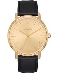Nixon - Porter Leather Watch - Lyst