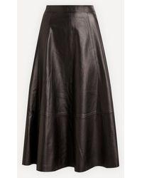 Co. Full Leather Skirt - Black