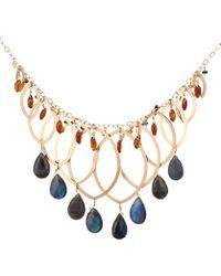 Kojis - Gold Layered Multi-stone Drop Necklace - Lyst