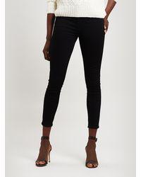 J Brand Alana High Rise Cropped Skinny Jean - Black