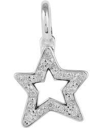 Monica Vinader - Silver Alphabet Diamond Star Pendant - Lyst