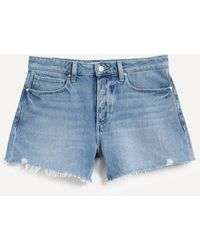 PAIGE Noella Cut-off Shorts - Blue