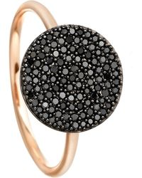 Astley Clarke - Rose Gold Icon Black Diamond Ring - Lyst