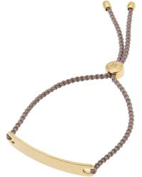 Monica Vinader - Gold Vermeil Havana Cord Friendship Bracelet - Lyst