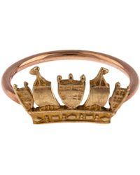 Annina Vogel - Rose Gold Crown Ring - Lyst