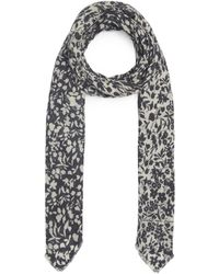 Lily and Lionel Blossom Merino Wool-blend Scarf - Blue