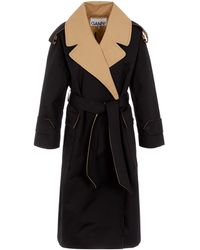 Ganni - Two-tone Trench Coat - Lyst