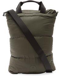 Rains Puffer Cross-body Tote Bag - Green