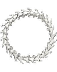 Shaun Leane Serpent Trace Wide Sterling Silver Bracelet - Metallic