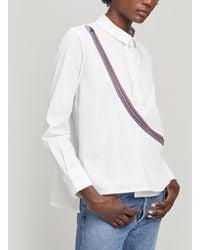 Crea Concept Wrap-around Zip Shirt - White