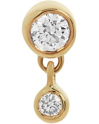 Maria Black Gold Mini Me Diamond Labret Earring - Metallic