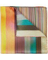 Paul Smith - Artist Stripe Dip Dye Clash Pocket Square - Lyst