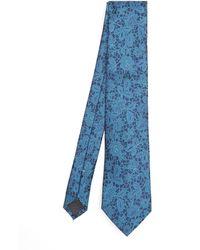 Simon Carter Damask Tie - Blue