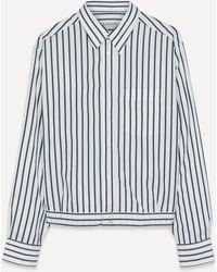 Lanvin Cropped Striped Shirt - Multicolor