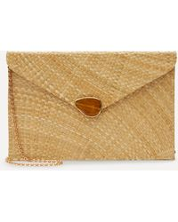 Kayu Capri Straw Envelope Clutch Bag - Multicolor