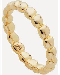 Monica Vinader Gold Plated Vermeil Silver Nura Teardrop Eternity Ring - Metallic