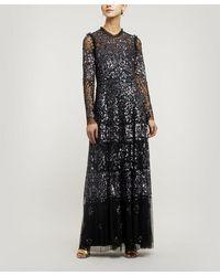 Needle & Thread Aurora Maxi-dress - Black