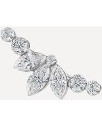 Maria Tash Invisible Set Diamond Lotus Open Garland Climber Earring Right - Metallic