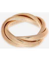 Kenneth Jay Lane Gold-plated Twisted Snake Chain Stretch Bracelet - Metallic