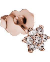 Maria Tash 4.5mm Diamond Flower Stud Earring - Multicolour