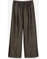 Dries Van Noten Dark Floral Jacquard Trousers - Multicolour