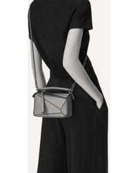 Loewe Mini Puzzle Leather Shoulder Bag - Brown